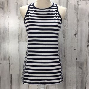 Athleta Striped Racer Back Tank Size M